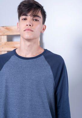 Camiseta-Mescla-Basica-Navy-Com-Mangas-Raglan