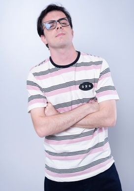Camiseta-Manga-Curta-Listrada