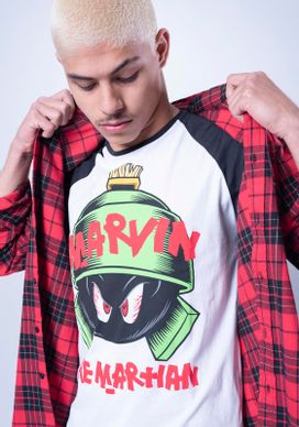 Camiseta-Manga-Curta-Looney-Tunes-Marvin