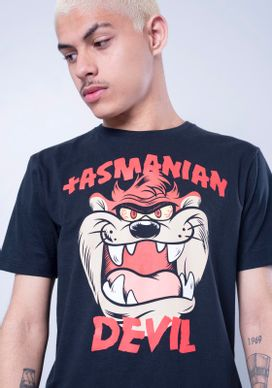 Camiseta-Manga-Curta-Looney-Tunes-Taz-Mania