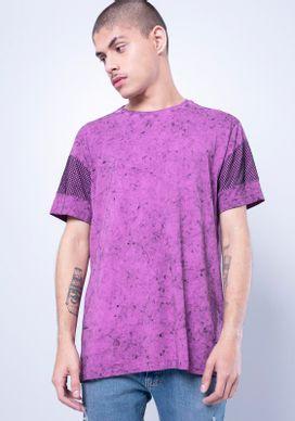 Camiseta-Manga-Curta-Marmorizada-Tela