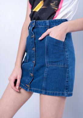 Saia-Jeans-Azul-Escuro-Vintage-Botoes
