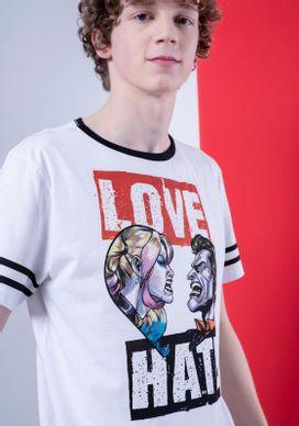 Camiseta-Branca-Coringa-E-Arlequina-Love-Hate