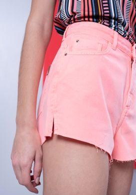Short-Jeans-Cintura-Alta-Laranja-Neon