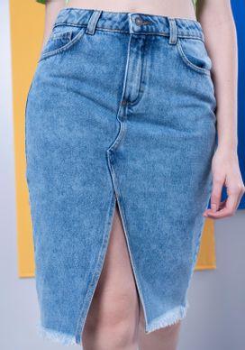 Saia-Jeans-Midi