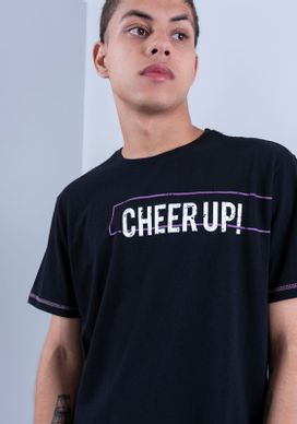 Camiseta-Estampada-Manga-Curta-Cheer-Up