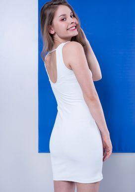 Vestido-Curto-Branco-Jacquard