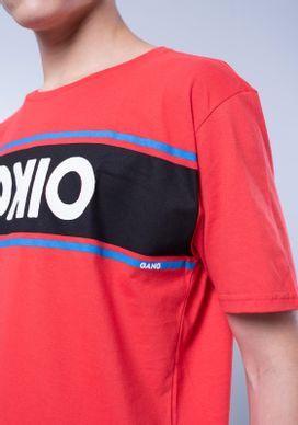 Camiseta-Vermelha-Silk-Tokio-Faixa-No-Peito