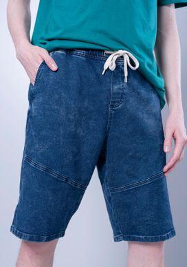 Bermuda-Jeans-Recorte-Azul-Escuro-Gang-Masculina