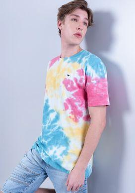 Camiseta-Estampada-Manga-Curta-Tie-Dye-Colorido-Gang-Masculina