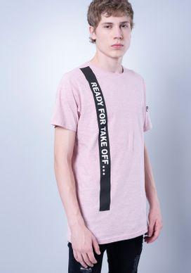 Camiseta-Alongada-Mescla-Rosa-Faixa-Ziper-Manga