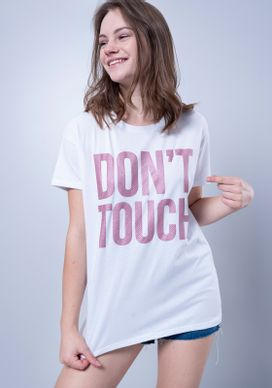 Blusa-Camiseta-Branca-Dont-Touch