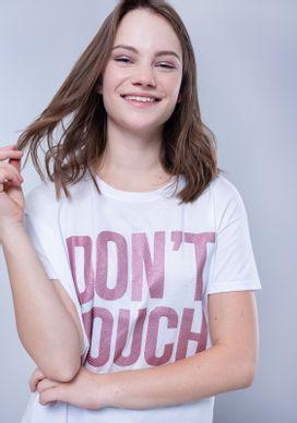 Blusa-Camiseta-Branca-Dont-Touch