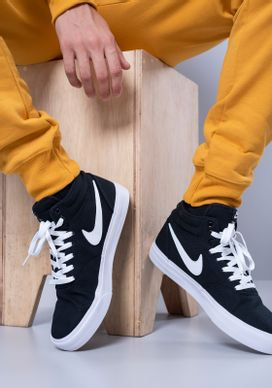 Tenis-Nike-SB-Charge-Solar-Mid-Preto-Masculino