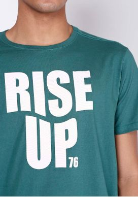 Camiseta-Estampada-Manga-Curta-Rise-Up-76-Petroleo-Gang-Masculina-Verde-PP