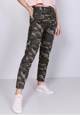 Calca-Jeans-Cigarrete-Cintura-Media-Camuflada-Militar