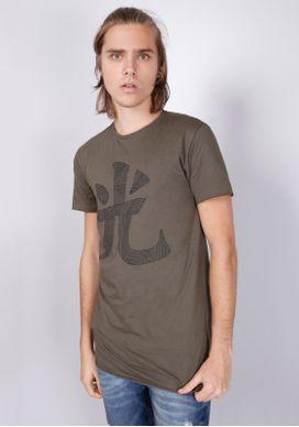 Camiseta-Verde-Militar-Long-Ideograma-Geometrico-Verde-PP