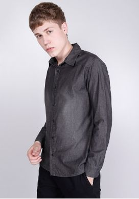 Camisa-Jeans-Used-Preta-Preto-PP