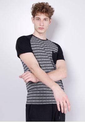 Camiseta-Manga-Raglan-Preta-Malha-Jacquard-Preto-PP