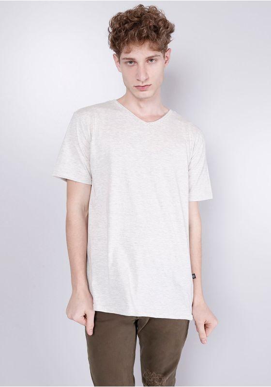 Camiseta-Basica-Gola-V-Mescla-Banana-Bege-P-