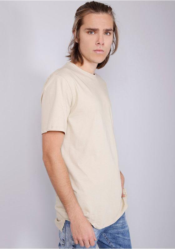 Camiseta-Basica-Alongada-Caqui-Bege-P