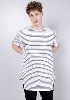 Camiseta-Alongada-Branca-Listras---Gang-76-Branco-P