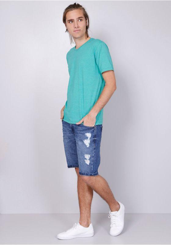 Camiseta-Basica-Gola-V-Verde-Bandeira-Verde-G