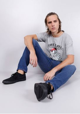 Camiseta-Mescla-Alongada-Love-Slave-Cinza-G