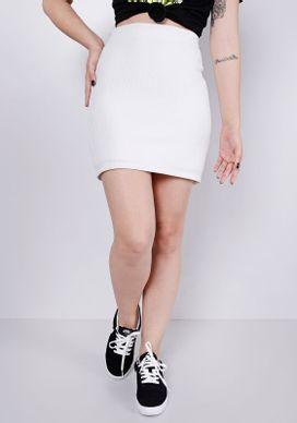 Saia-Off-White-Tecido-Nervuras-Ziper--Branco-GG