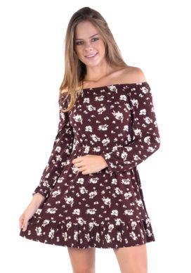 Vestido-Floral-Vinho-Vermelho-GG
