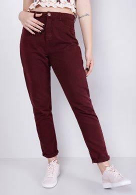 Calca-Mom-Jeans-Cintura-Alta-Vinho-Bordo-32