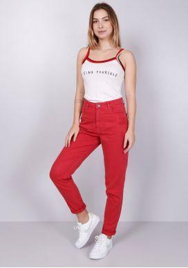 Calca-Mom-Jeans-Cintura-Alta-Vermelha-Vermelho-34