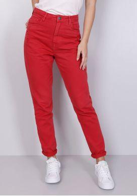Calca-Mom-Jeans-Cintura-Alta-Vermelha-Vermelho-36