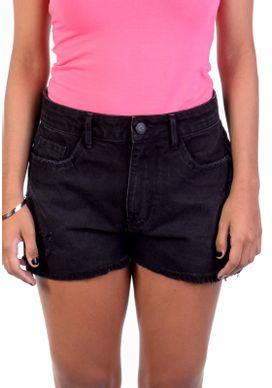 Short-Jeans-Cintura-Alta-Black-Preto-38