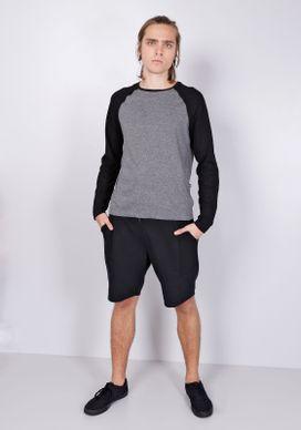 Camiseta-Basica-Manga-Longa-Raglan-Cinza-Chumbo-Gang-Masculina-Cinza-P