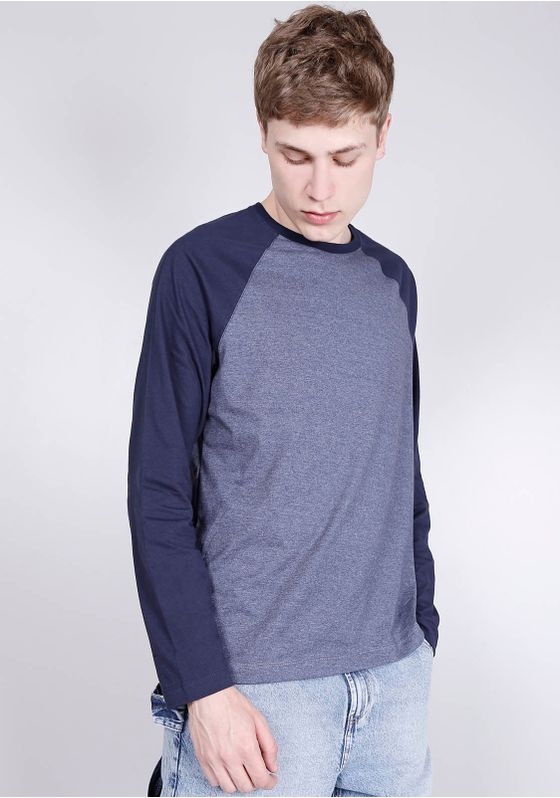Camiseta-Basica-Manga-Longa-Raglan-Azul-Gang-Masculina-Azul-G