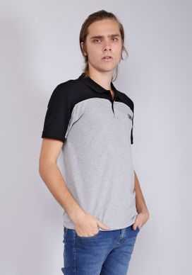 Camisa-Polo-Manga-Curta-Com-Recorte-E-Friso-Branca-Gang-Masculina-Cinza-P