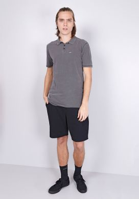 Camisa-Polo-Manga-Curta-Lavada-Cinza-Gang-Masculina-Cinza-PP