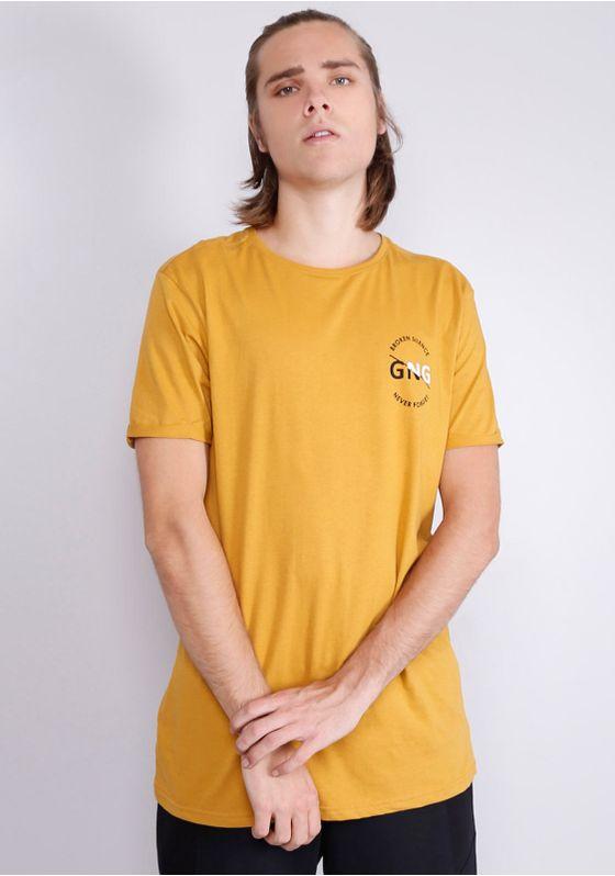 Camiseta-Manga-Curta-Alongada-Mostarda-Amarelo-PP