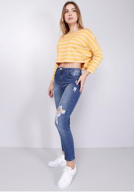 Calca-Jeans-Skinny-Cintura-Media-Rasgos-Joelho-Jeans-Diferenciada-34