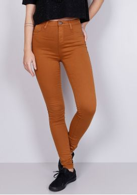 Calca-Jeans-Skinny-Cintura-Alta-Super-Power-Camel-Marrom-PP