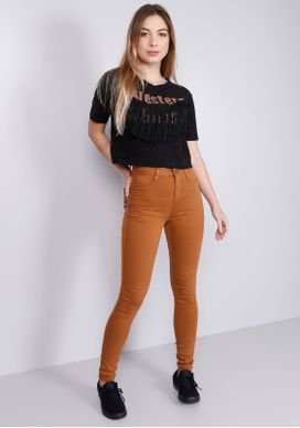 Calca-Jeans-Skinny-Cintura-Alta-Super-Power-Camel-Marrom-M