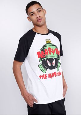 Camiseta-Manga-Curta-Looney-Tunes-Marvin-Branco-PP