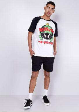 Camiseta-Manga-Curta-Looney-Tunes-Marvin-Branco-PP