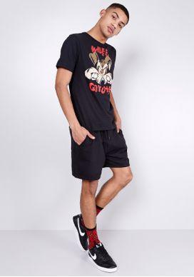 Camiseta-Manga-Curta-Looney-Tunes-Coyote-Preto-P