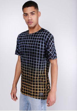 Camiseta-Estampada-Manga-Curta-Quadriculada-Preto-PP