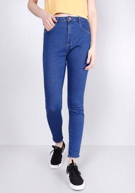 Calca-Jeans-Skinny-Cintura-Media-T400-Azul-34