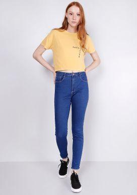 Calca-Jeans-Skinny-Cintura-Media-T400-Azul-40