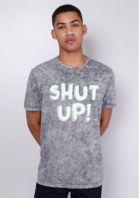 Camiseta-Estampada-Manga-Curta-Neon-Shut-Up-Cinza-PP