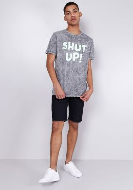Camiseta-Estampada-Manga-Curta-Neon-Shut-Up-Cinza-PP